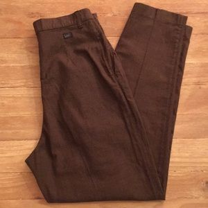 Vintage LEE Brown Woven Pleated Pants Relaxed